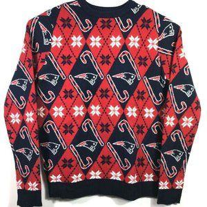New England Patriots NFL Team Apparel Mens Sweater